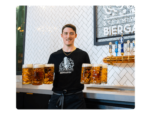 Image of an employee from Steam Whistle Brewing